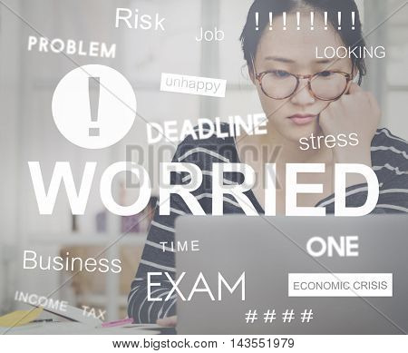 Negative Exam Worried Stressed Graphic Concept