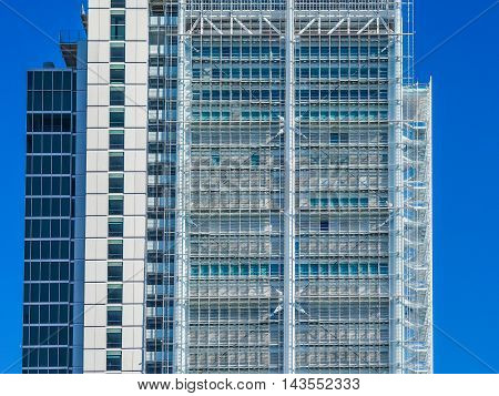San Paolo Skyscraper In Turin (hdr)