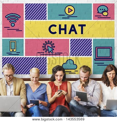 Chat Blog Online Conversation Talk Concept