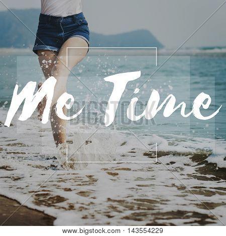 Me Time Lifetime Punctual Schedule Management Concept