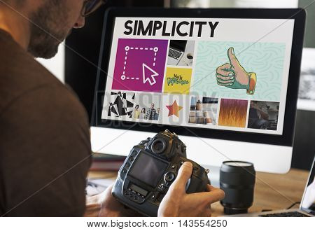 Camera Graphic Computer Working Innovation Concept