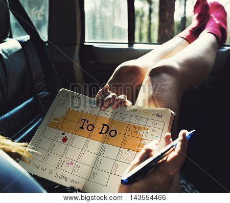 To Do Agenda Planner Reminder Calendar Concept