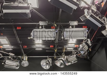 Television studio broadcast with lighting System .