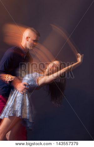 Dance Couple Motion Blur Long Exposure
