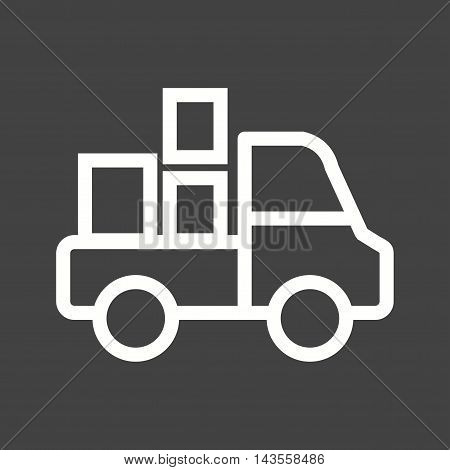 Pickup, truck, vehicle icon vector image. Can also be used for farm. Suitable for use on web apps, mobile apps and print media.
