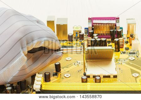 Installation of modern processor in CPU socket on the motherboard