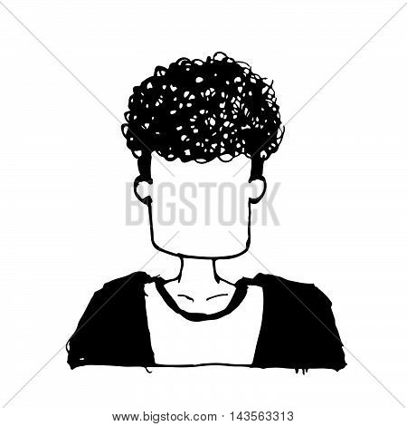 doodle people avatar icon hand draw illustration design