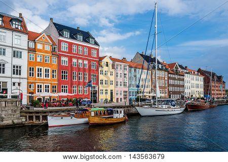 Nuhavn Harbor In Copenhagen