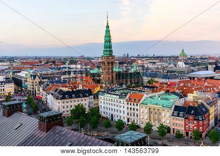Copenhagen Skyline Panoramic Cityscape