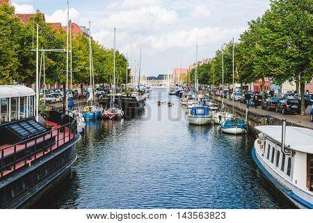 Christianshavn Harbor In Copenhagen