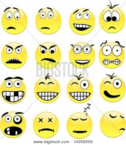 Smileys contains fill only. All curves are discolored.