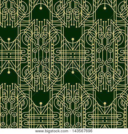 Artdeko - seamless pattern in vintage style of the twenties beginning of the twentieth century