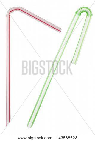 straw on white background