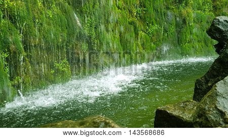 Wonderful waterfall in the center of Budapest.