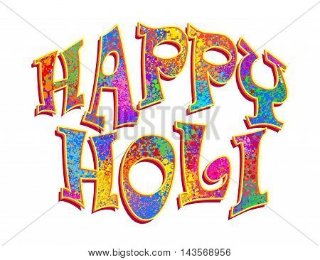 Creative Abstract for Happy Holi party banner with multicolor colorful splash background for Holi celebration