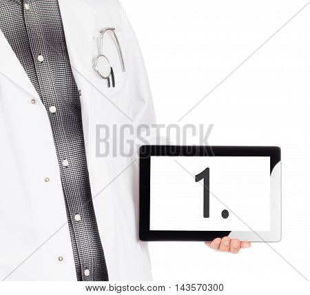 Doctor Holding Tablet - Number 1