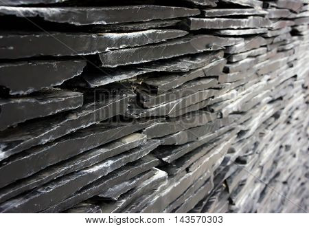 Black wall stone background black stone marble.