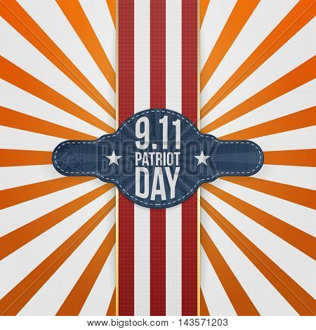 Patriot Day 9-11 realistic patriotic Badge Template