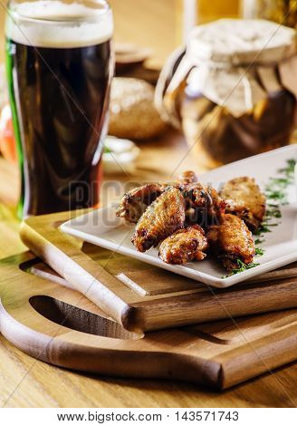 chicken wings with beer