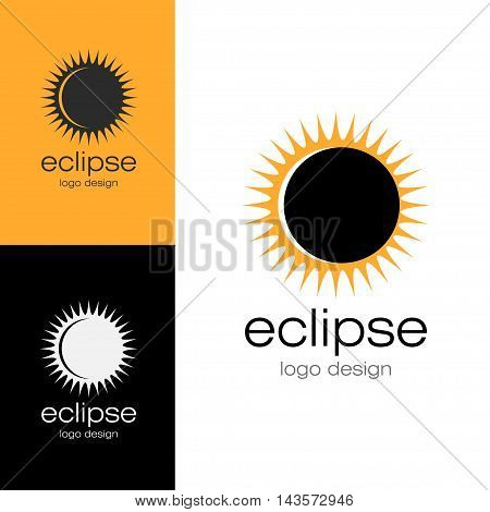 Logo design Eclipse, vector art for web and print