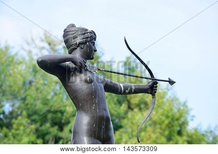 Statue of Diana the Huntress in hyde park