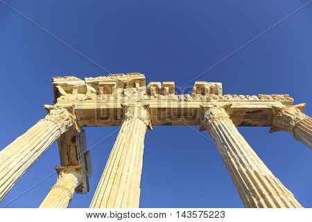 Turkey Ruins of the Temple of Apollo located in Antalya.