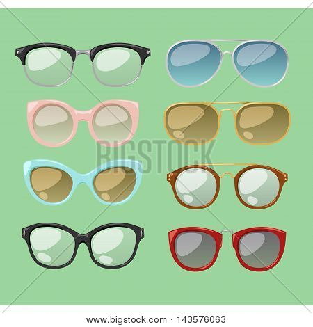 Vector glasses isolated on background. Hipster fashion glasses.