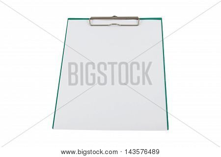 A clipboard and write on it, isolated on white background