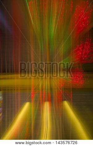 Background - Abstraction, Twinkling Christmas Lights.