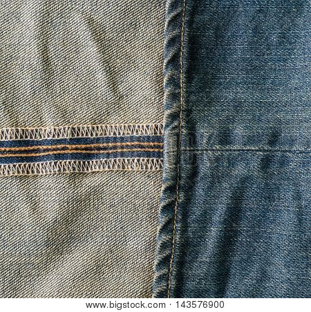 denim texture to the inner and outer seam.