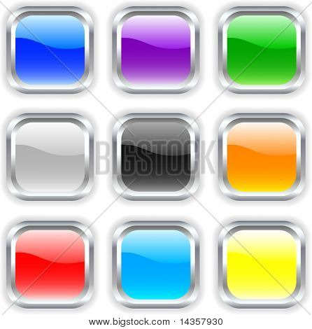 Beautiful buttons with shadow. Vector illustration.