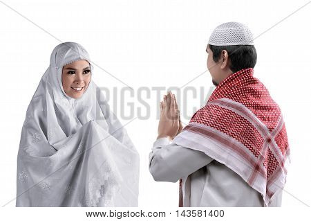 Asian Muslim Man And Woman