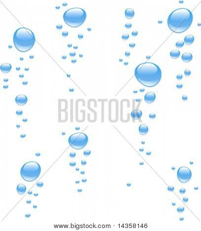 Water with bubbles. Vector illustration.