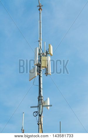 Telecommunication tower. Radio and Cellular broadcasting service