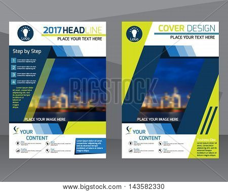 Annual report brochure flyer design template vector Leaflet cover presentation abstract flat background layout in A4 size