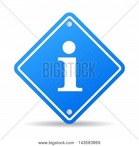 Info sign blue vector illustration isolated on white background