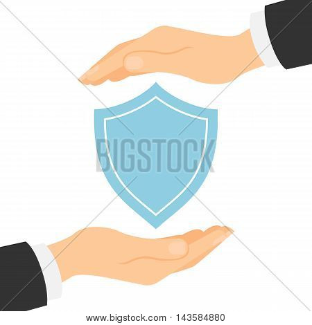 Protection shield concept. Symbol of safety and insurance.