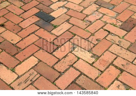 Old, weathered brick background in interesting pattern.