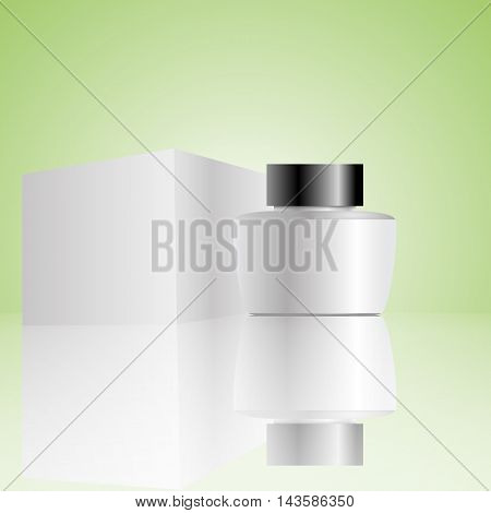 cosmetic bottle with box eps 10 illustration