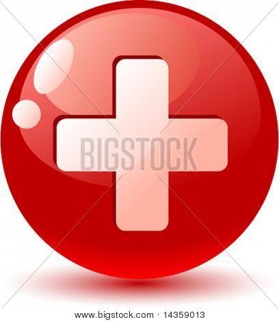 Switzerland flag icon. Vector illustration.