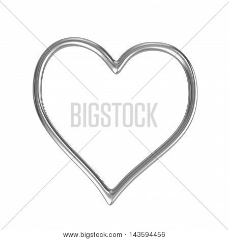 Heart Shape Silver Ring Frame