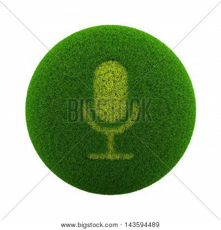 Grass Sphere Mic Icon