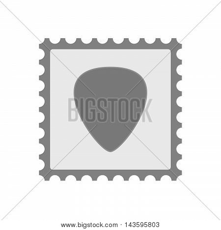 Isolated Mail Stamp Icon With A Plectrum