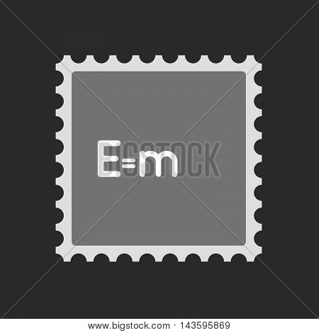 Isolated Mail Stamp Icon With A Toy Crank