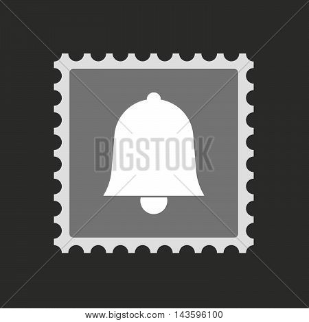 Isolated Mail Stamp Icon With A Bell