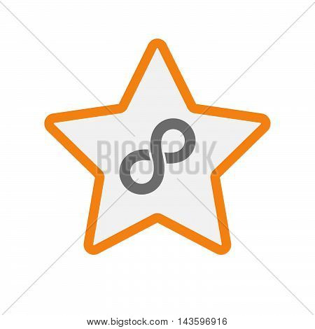 Isolated Line Art Star Icon With An Infinite Sign