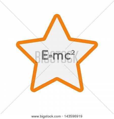 Isolated Line Art Star Icon With The Theory Of Relativity Formula
