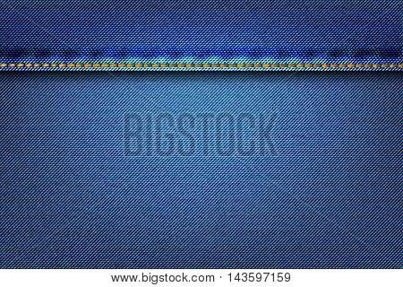 Denim Texture Fabric As Background.