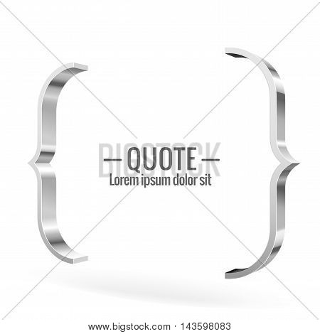 Parentheses Sign. Quote, Message
