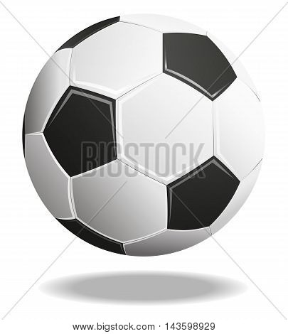 Soccer Ball With Shadows Isolated On White Background.